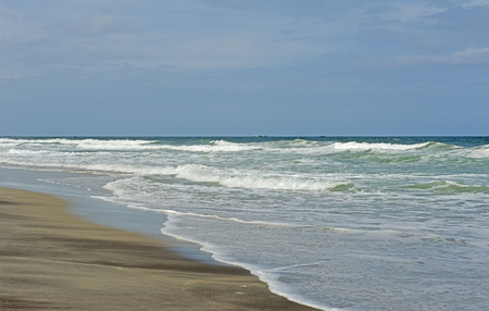atlantic ocean: Beach, waves, and sand of the Atlantic Ocean at the Outer Banks of North Carolina.