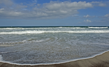 major ocean: Beach, waves, and sand of the Atlantic Ocean at the Outer Banks of North Carolina.