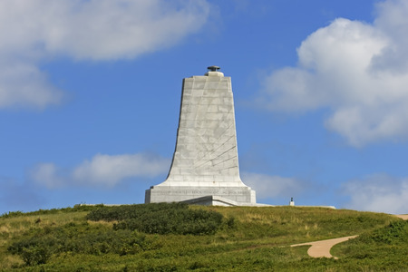 Wright Brothers Monument at Kill Devil Hills, North Carolina-Side View.  Owned and operated by the National Park Service.  Therefore the monument is public property and no property release required.