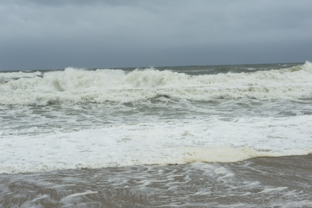 major ocean: Stormy Atlantic Ocean with storm clouds at the Outer Banks of North Carolina. Stock Photo