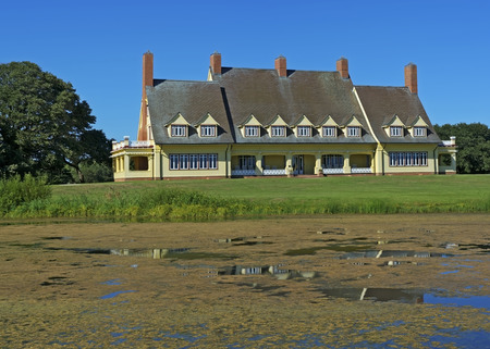 outer banks: The Whalehead Club in the Outer Banks of North Carolina.  The Whalehead Club is owned by Currituck County and operated as a museum.  This image for editorial use only. Editorial