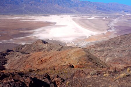 The basin of Badwater seen from Dantes View in Death Valley National Park, California