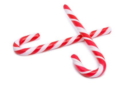 Candy cane isolated on white background Stock Photo