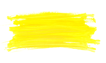 Abstract watercolor yellow paint brush texture
