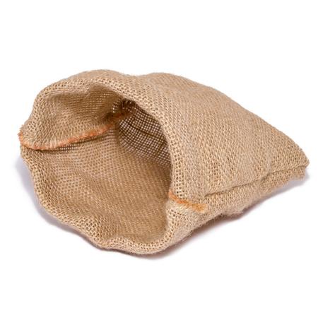Lege zak van ontslaan geïsoleerd op witte achtergrond