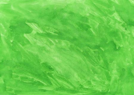 Green abstract aquarel watercolor background Stock Photo