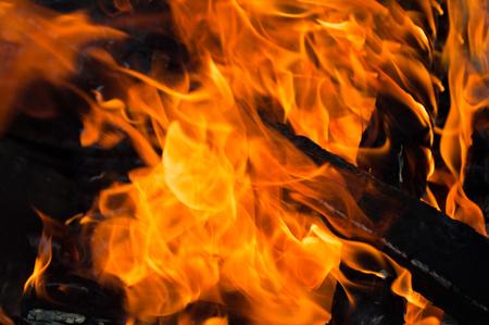 Bonfire close up texture background