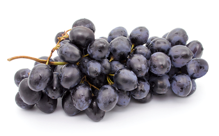Grapes bunch isolated on a white background Stock Photo