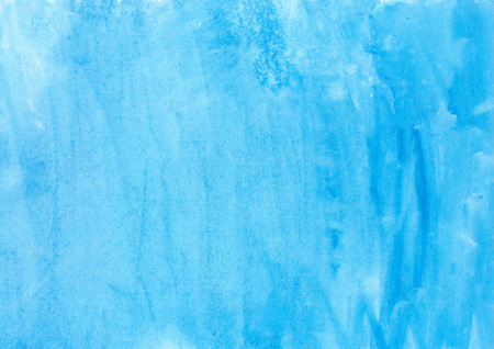 Abstract ink blue aquarel watercolor splash hand paint on white background Stock Photo