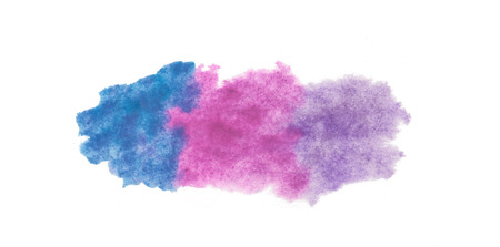 Abstract texture brush ink background aquarel watercolor splash hand paint on white background Stockfoto