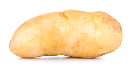 One tasty raw yellow potato isolated on white background Stock Photo