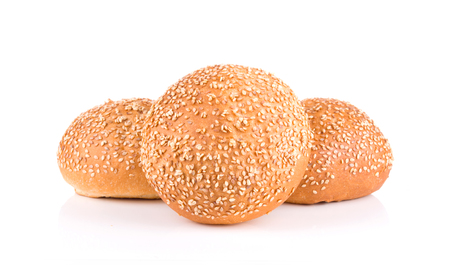 group of sandwich bun with sesame seeds isolated on white background Reklamní fotografie