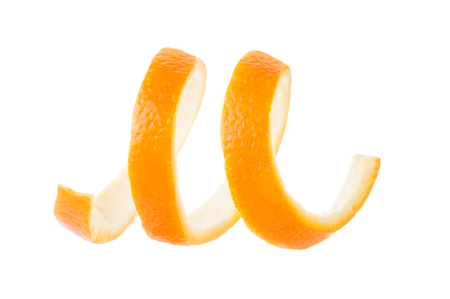 Peel of orange isolated on white background