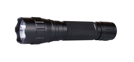 LED torch flashlight isolated on a white background