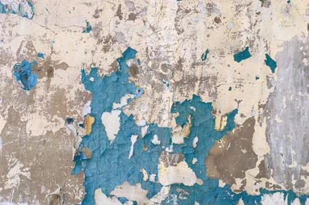 Pintura descascarada en la pared sin fisuras patrón de textura de material rústico grunge.