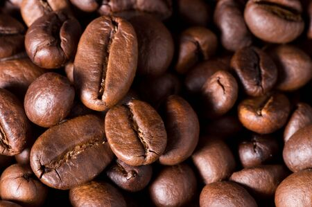 image of brown roasted coffee beans background 写真素材