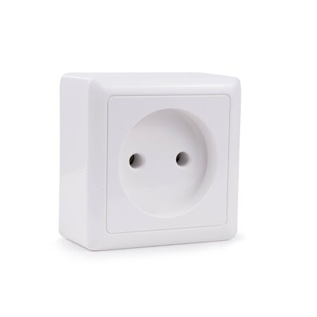electric voltage socket isolated on white background