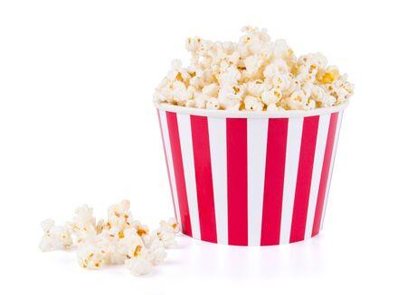Popcorn in scatola di cartone rossa e bianca per il cinema
