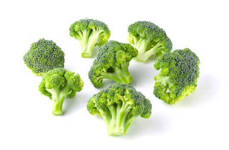 Group of tasty Broccoli isolated on white background