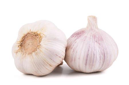 Garlic isolated on white background Stockfoto