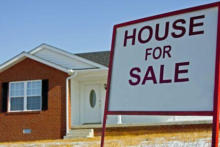 house for sale Reklamní fotografie