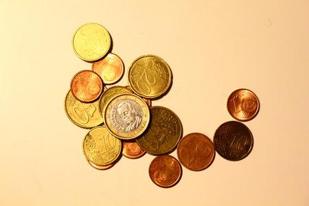 numismatics: Euro coins Stock Photo