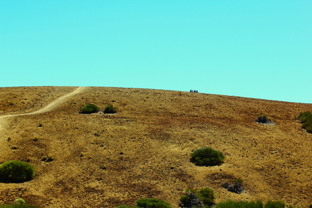 lonelyness: Road  view near Teide volcano  Stock Photo