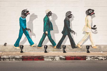 Songkhla straatkunst in Zuid-Thailand