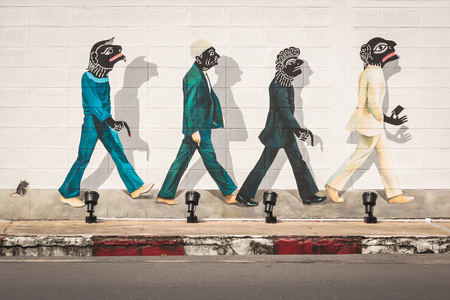 Songkhla street art in South of Thailand