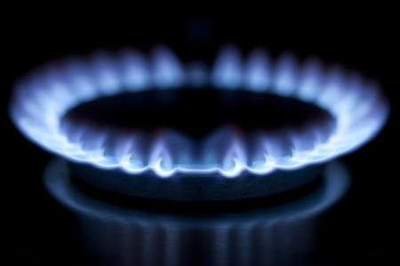 Gas burner in kitchen Stock Photo - 14610091