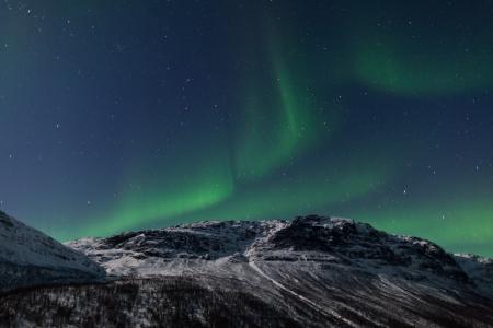 Aurora Borealis, Tromso, Norway Stok Fotoğraf