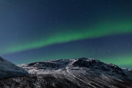 north star: Aurora Borealis, Tromso, Norway Stock Photo