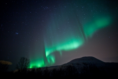 Aurora Borealis ripples in sky  northern lights  photo