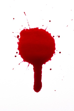 Blood splat and drip photo