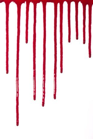 Blut sickerte nach unten Standard-Bild - 14973990