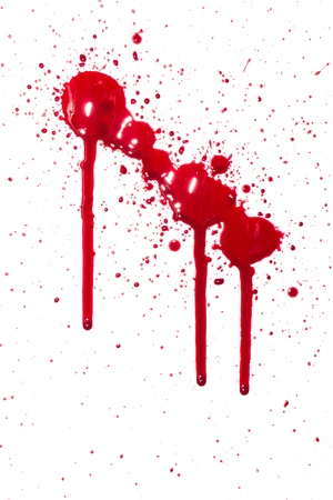 Blood drips Stock Photo