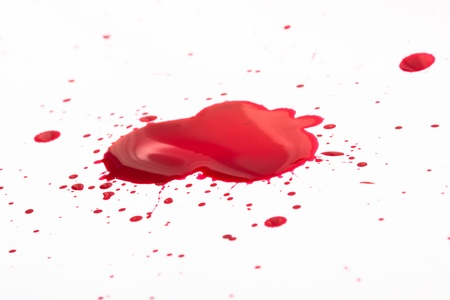 Blood splashes Stock Photo