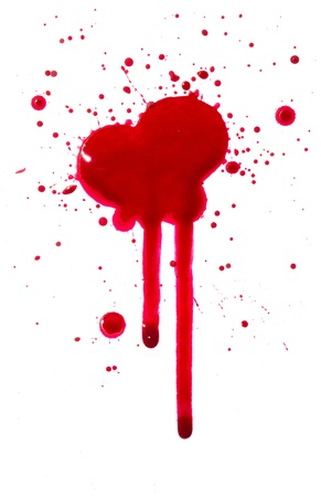 cut and blood: Paint drops