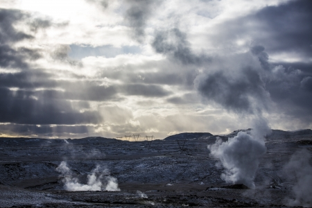 climate change: Geothermal volcanic activity in Iceland