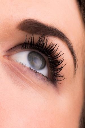 visual perception: Female eye close up Stock Photo