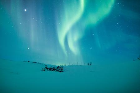 Aurora borealis boven Scandinavië Stockfoto