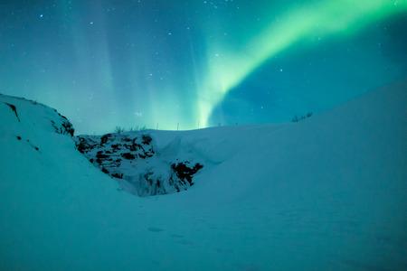 geomagnetic: Aurora borealis over Scandinavia