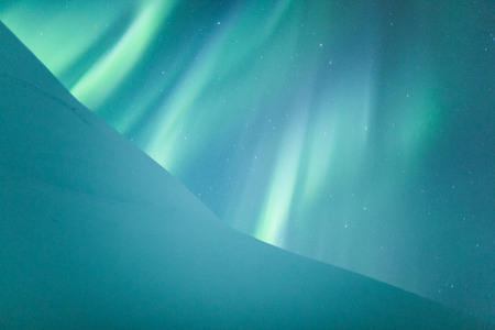 arctic zone: Aurora borealis over Scandinavia