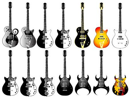 resonancia: guitarras Vectores