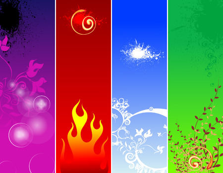 fire and ice: lucht Stock Illustratie