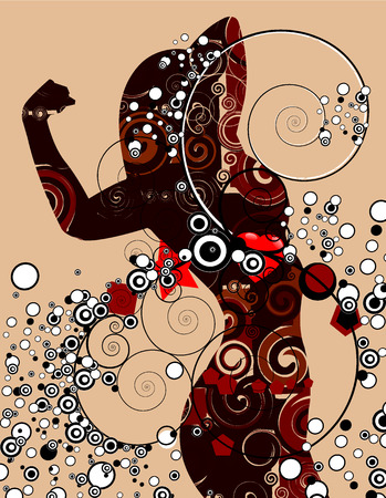 botany woman: woman Illustration