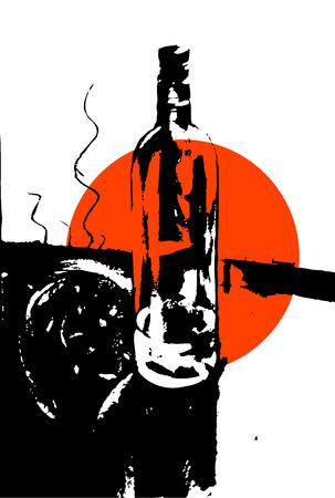 splutter: abstract Illustration