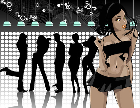 in the club Illustration