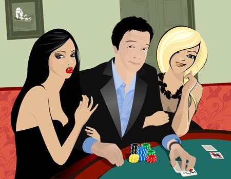 sexy young couple: casino