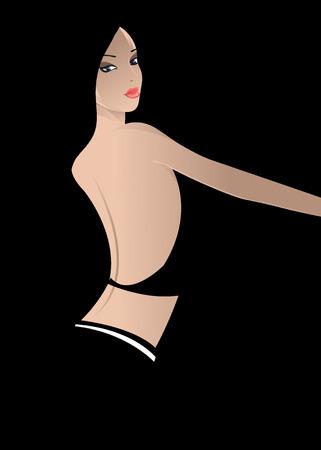 sexy woman disco: girl